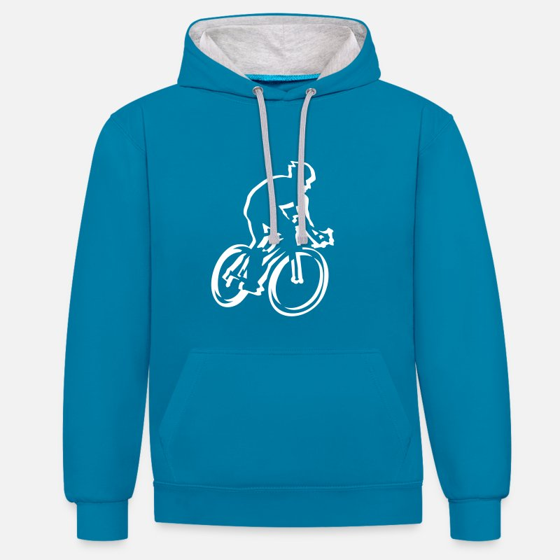 Bestsellers Q4 2018 Hoodies & Sweatshirts - cycling - Unisex Contrast Hoodie peacock blue/heather grey