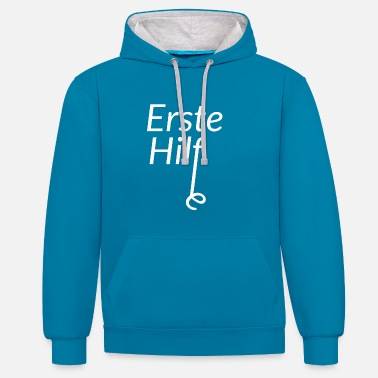 First Aid First aid - Contrast Colour Hoodie