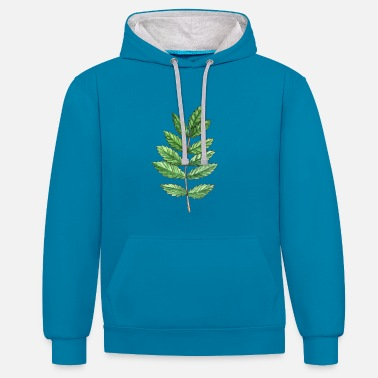 Ash Leaf of an ash - Contrast Colour Hoodie