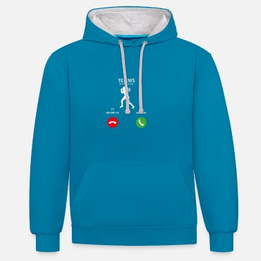 Appel la star du tennis wimbledon Appel d'appel mobile - Sweat-shirt contraste