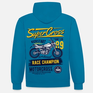 Bikes And Cars Collection Super Motocross - Contrast hoodie