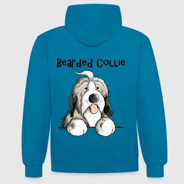 Mignon Bearded Collie - Sweat-shirt contraste