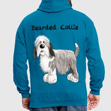 Happy Bearded Collie - Contrast Colour Hoodie