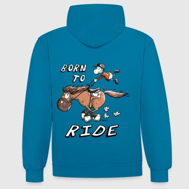 Born to Ride - Sweat-shirt contraste