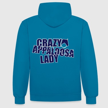 Crazy Appaloosa Lady - Contrast hoodie