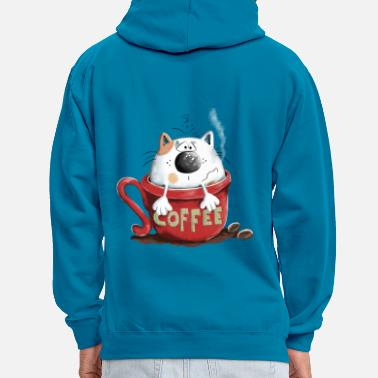 Matin Chat et café - Sweat-shirt contraste