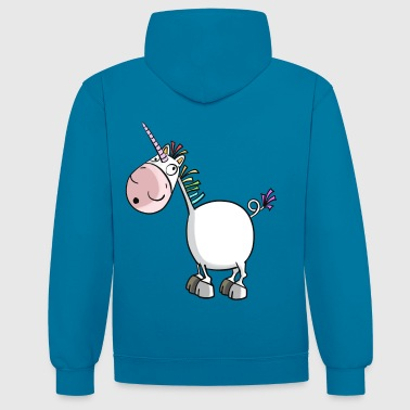 Funny Unicorn - Unicorns - Comic - Contrast Colour Hoodie