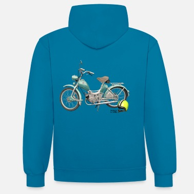 Bikes And Cars Collection SR Simson Moped DDR oldschool ossi best roller GDR - Sudadera con capucha en contraste