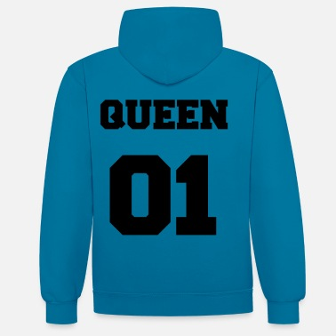 King Queen Queen 01 Black - Kontrast-hettegenser