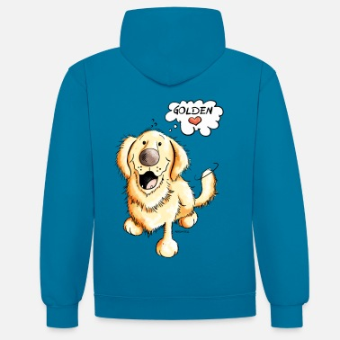 Golden Retriever Golden Retriever - Sweat-shirt contraste