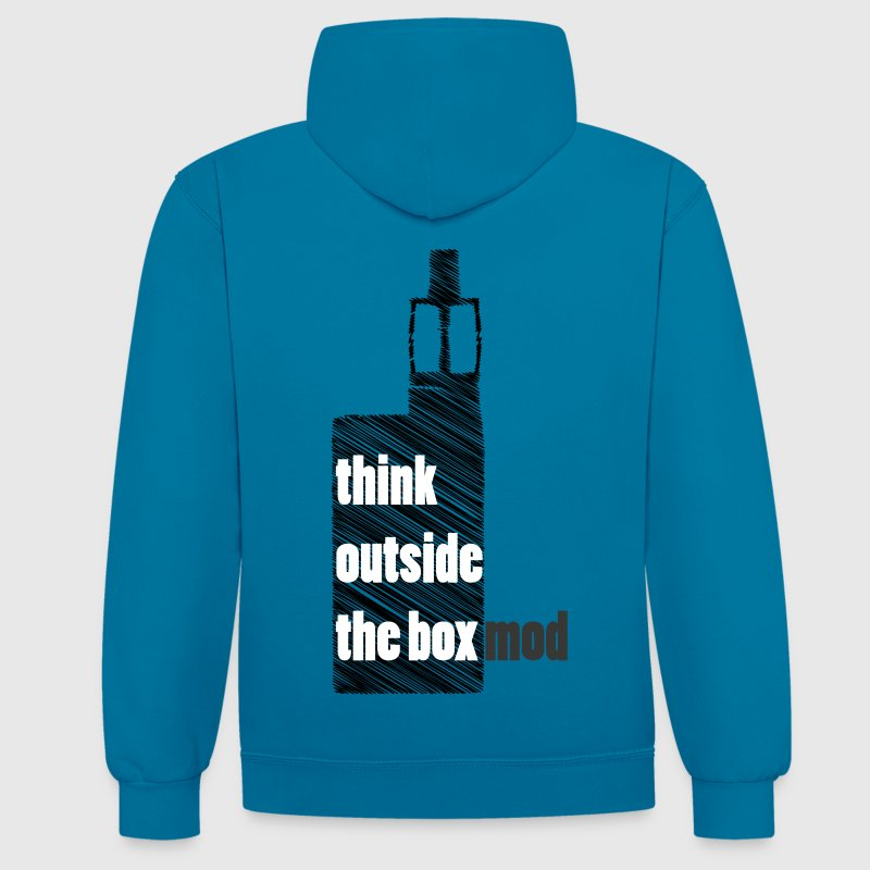 Think Outside the box - Kontrast-Hoodie