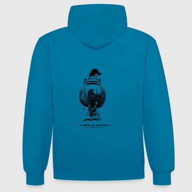 Pony galop Thelwell Cartoon - Contrast hoodie