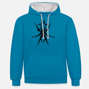 Tatoo tatoo tribal spider 31013 - Contrast Colour Hoodie