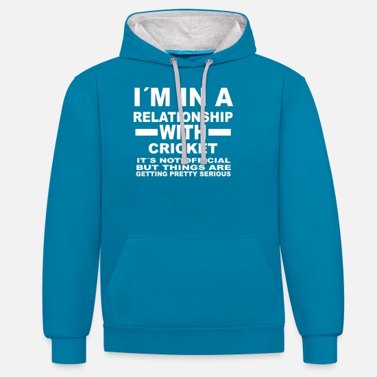 Cricket Hoodies & Sweatshirts - relationship with CRICKET - Unisex Contrast Hoodie peacock blue/heather grey