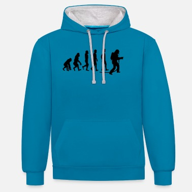 Firefighter evolution fire department1 - Unisex Contrast Hoodie
