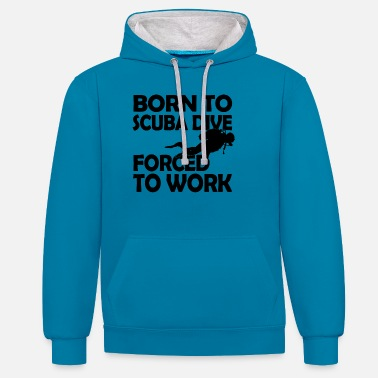 Scuba Diving Born to scuba dive - Unisex Contrast Hoodie