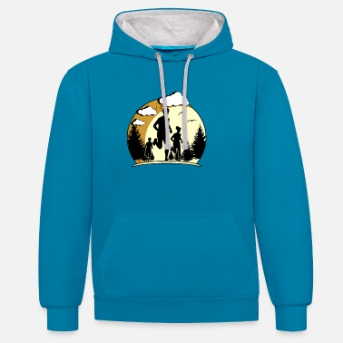 Running Sport Jogger Recreational Sports Gift Running - Unisex Contrast Hoodie