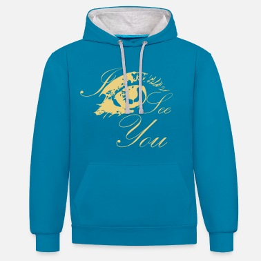 I see you, colorful eye - Unisex Contrast Hoodie