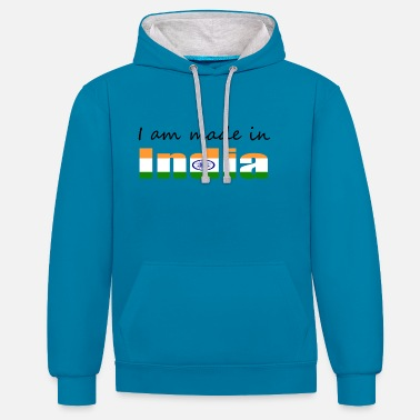 I Am Made In India - Unisex Contrast Hoodie