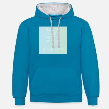 Trip Escape and breathe the air gift idea - Unisex Contrast Hoodie