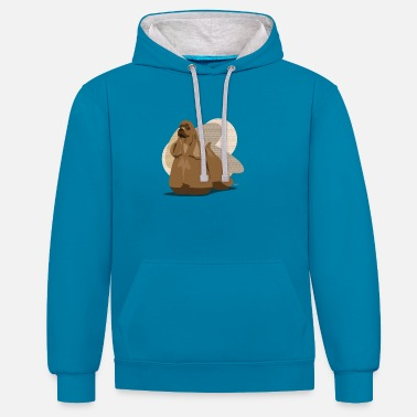 Ixco Dogs Collection by IxCÖ #Cocker - Unisex Contrast Hoodie