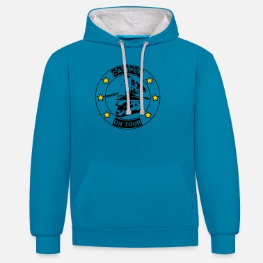 Camper on tour - gift idea for motorhome campers - Unisex Contrast Hoodie
