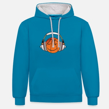 Music BBall - Unisex Contrast Hoodie