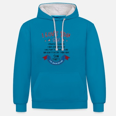 Mummy Daddy Me I Love You My Son - Unisex Hoodie zweifarbig