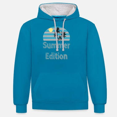 Casual Summer Edition - summer / trend / cool - Unisex Contrast Hoodie