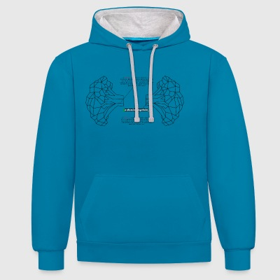 Lungs Logo - Contrast Colour Hoodie
