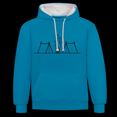 Campfire Camping - Sweat-shirt contraste