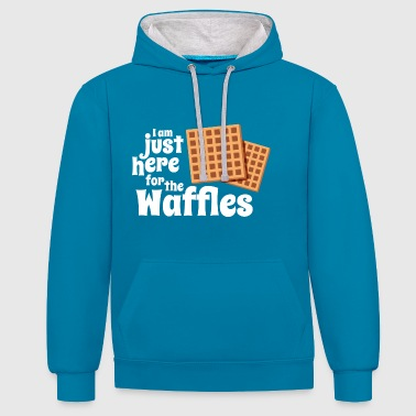 Just here for the Waffles - Contrast Colour Hoodie