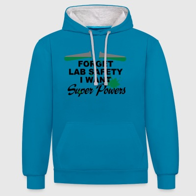 2541614 122653693 superpowers - Contrast Colour Hoodie