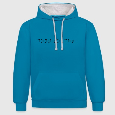 do not touch! - Contrast Colour Hoodie