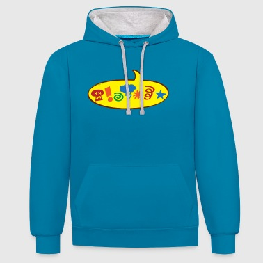 Cursing bad words speech balloon - Contrast Colour Hoodie