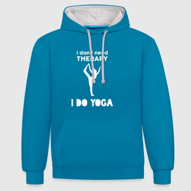 Yoga Fitness Sports Therapy Cadeau Vétéran - Sweat-shirt contraste