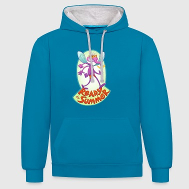 Mischievous mosquito ready to bite you in summer - Contrast Colour Hoodie