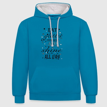 Eat glitter for Breakfast - Contrast Colour Hoodie