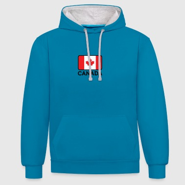 National Flag Of Canada - Contrast Colour Hoodie