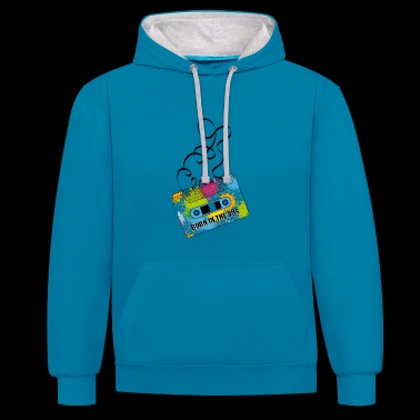 80s cassette - Contrast hoodie