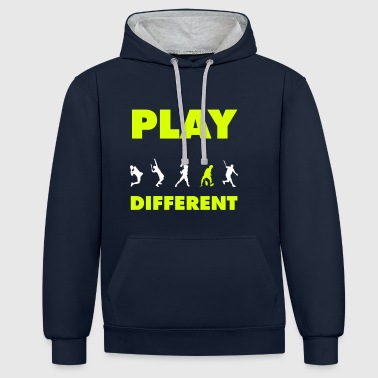 PLAY DIFFERENT 2 - Kontrast-Hoodie