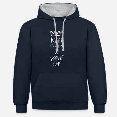Keep Calm Crown Keep Calm Crown Vape On - Unisex Hoodie zweifarbig