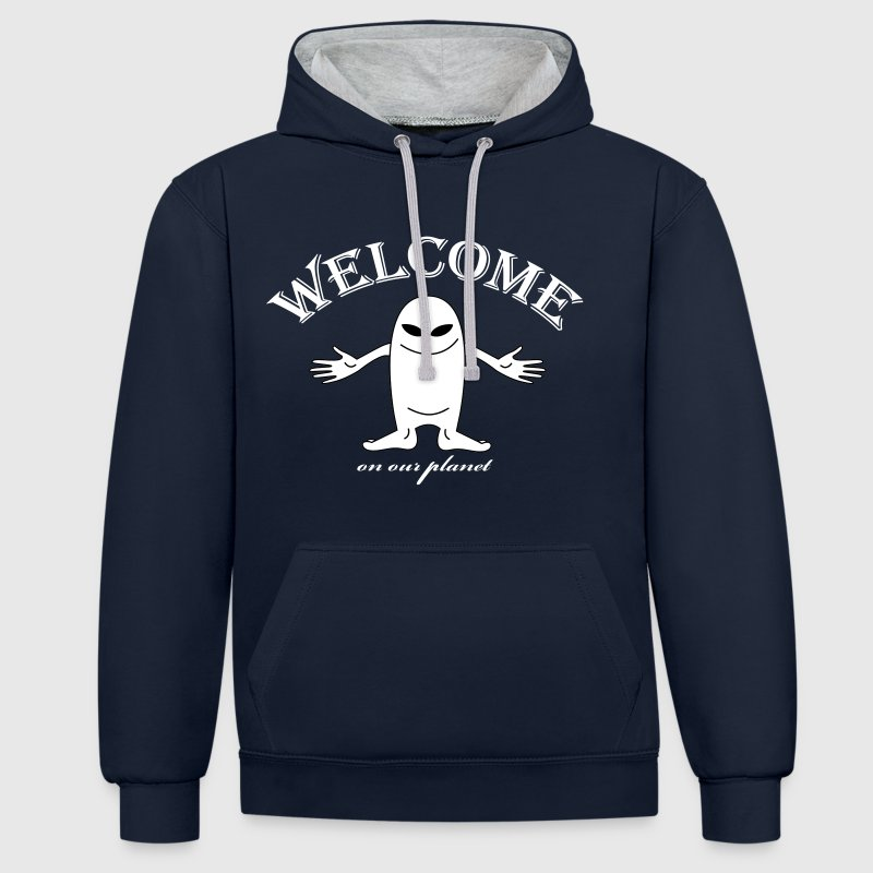 welcome - Sweat-shirt contraste