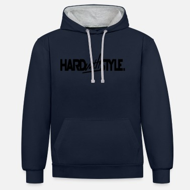 Hard-style Hard With Style HAIRSTYLE - Sudadera con capucha en contraste