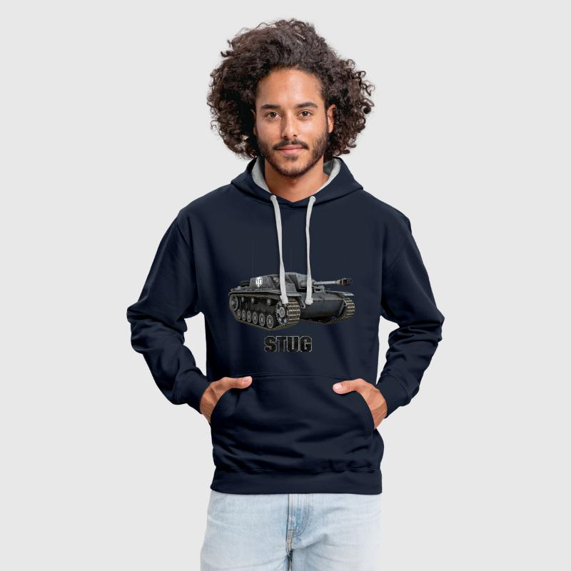 World of Tanks Stug Men Hoodie - Felpa con cappuccio bicromatica