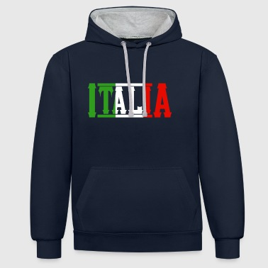 Italie italie - Sweat-shirt contraste