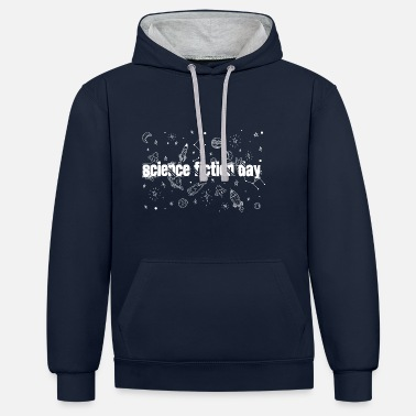 Science Fiction Day - Contrast hoodie