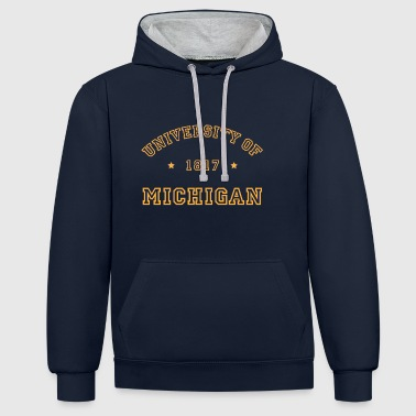 University of Michigan - Kontrast-Hoodie
