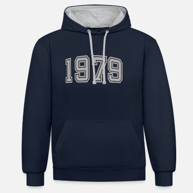 Birth 1979 Gift idea Year of birth Year of construction - Contrast Colour Hoodie