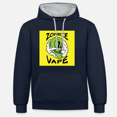 Vape Zombie - Sweat-shirt contraste